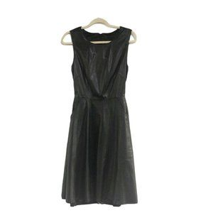 Jenni Kayne  Black Leather Silk Lining Dress Sz 4